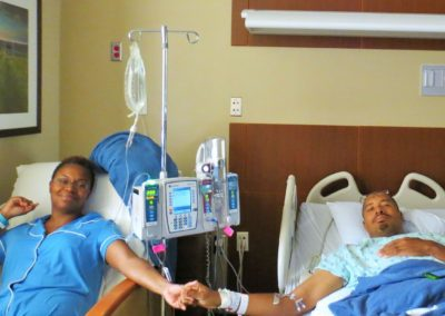 Author and Wife Post Kidney Transplant Surgery