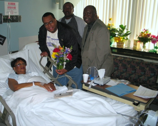 Mom with A PHI A and Pastor after surgery